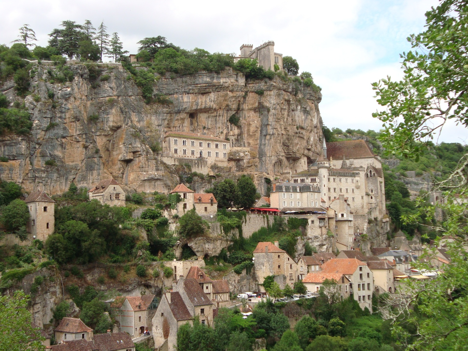 Rocamadour desde el otro lado del valle