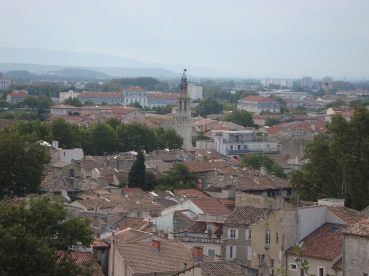 La ciudad vieja desde el jardín del Palacio de los Papas