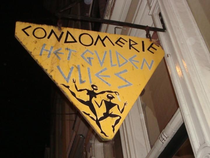 Condomerie, o la tienda de condones. Tipo emrcería, digamos